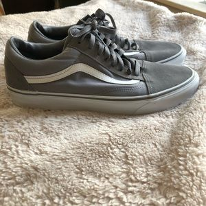 Vans, grey and white classics